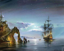 Load image into Gallery viewer, Caribbean Pirate  Ship DIY Painting Kit