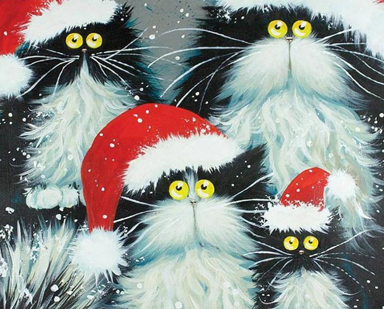 Christmas Cats Paint by Numbers