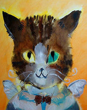 Load image into Gallery viewer, Cat with a Bow Tie Paint by Numbers