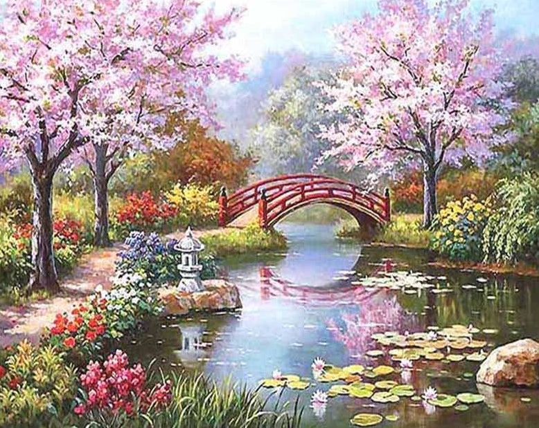 Flowers Landscape Painting Kit