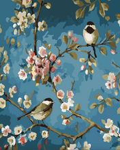 Load image into Gallery viewer, Chickadee Pair Paint by Numbers