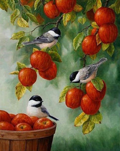 Chickadees & Apples Painting Kit