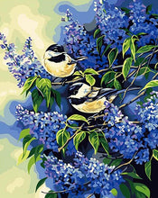 Load image into Gallery viewer, Chickadees Pair Paint by Numbers