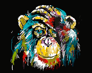 Colorful Chimpanzee DIY Painting Kit