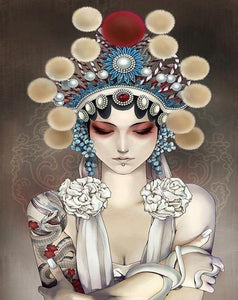 Chinese Opera Girl Paint by Numbers