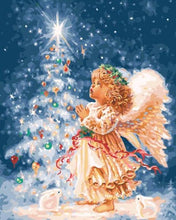 Load image into Gallery viewer, Christmas Angels Paint by Numbers