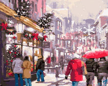 Load image into Gallery viewer, Christmas Hustle & Bustle Painting Kit