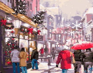 Christmas Hustle & Bustle Painting Kit