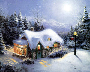Christmas House Paint by Numbers