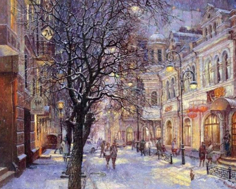 Winter City Paint by Numbers