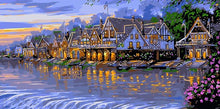 Load image into Gallery viewer, Houses & Lake Large Paint by Numbers