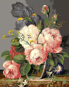 Classical Flowers Paint By Numbers