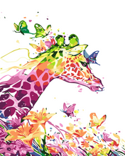 Load image into Gallery viewer, colorful giraffe Paint by numbers