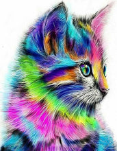 Load image into Gallery viewer, Colorful Cat Paint by Numbers