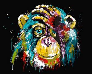Chimpanzee Painting by Numbers