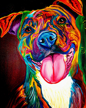 Load image into Gallery viewer, Colorful Dog Paint by Numbers