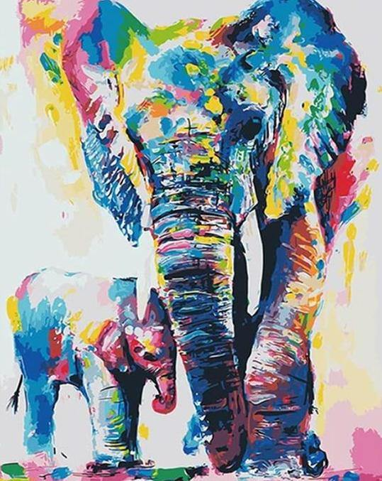 Colorful Elephant Paint by Numbers