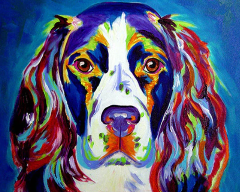 English Springier Spaniel Paint by Numbers