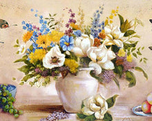 Load image into Gallery viewer, Colorful Floral Vase Paint by Numbers