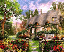 Load image into Gallery viewer, Colorful Flowers & House Paint by Numbers