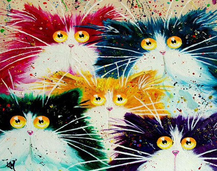 Colorful  Cats Painting Kit