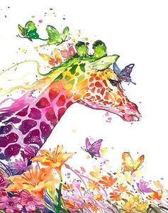Colorful Giraffe & Flowers Painting Kit