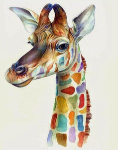 Colorful Giraffe Paint by Numbers