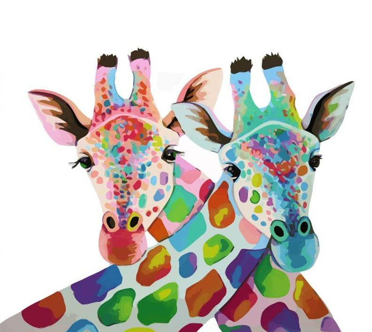 Colorful Giraffes Paint by Numbers