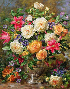 Gorgeous Flowers Paint by Numbers