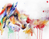 Colorful Horse Abstract Painting