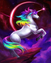 Load image into Gallery viewer, Colorful Unicorn Painting by Numbers