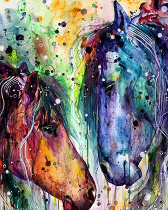 Horses Fantasy Paint by Numbers