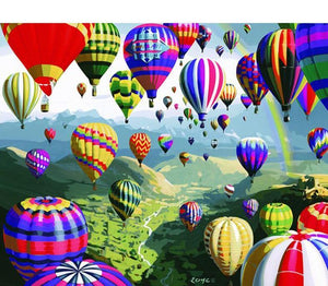 Air Balloons Painting by Numbers