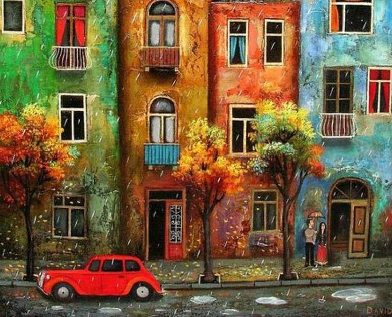 Colorful Houses Paint by Numbers