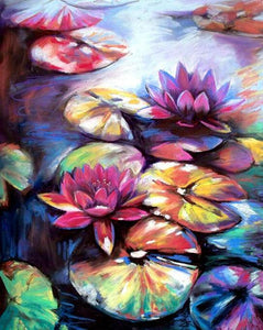 Colorful Lotus Paint by Numbers