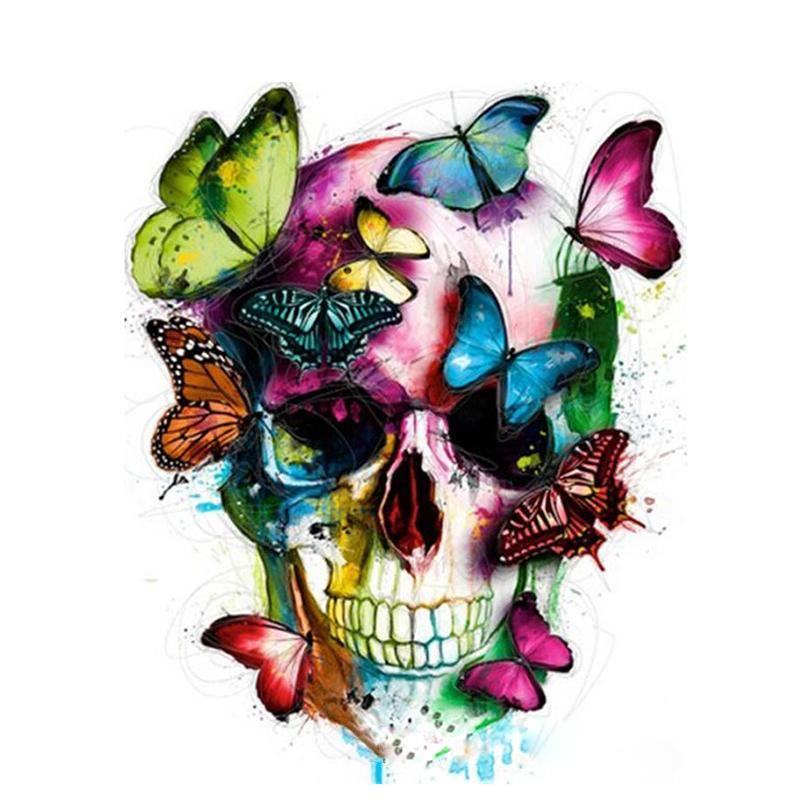 Skull & Butterflies Paint by Numbers