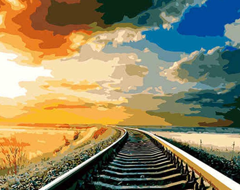 Rail Track Paint by Numbers