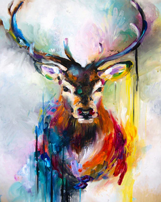 Stag Art Paint by Numbers