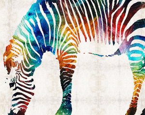 Colorful Zebra DIY Painting Kit
