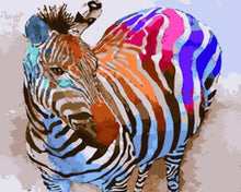 Load image into Gallery viewer, Colorful Zebra Paint by Numbers