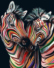 Load image into Gallery viewer, Colorful Zebras Paint by Numbers