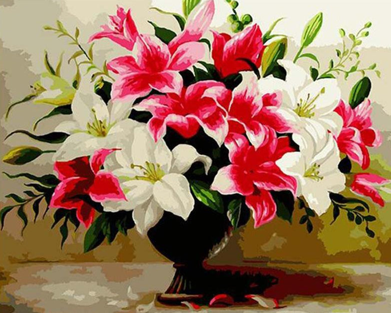 Colorful lilies Paint by Numbers
