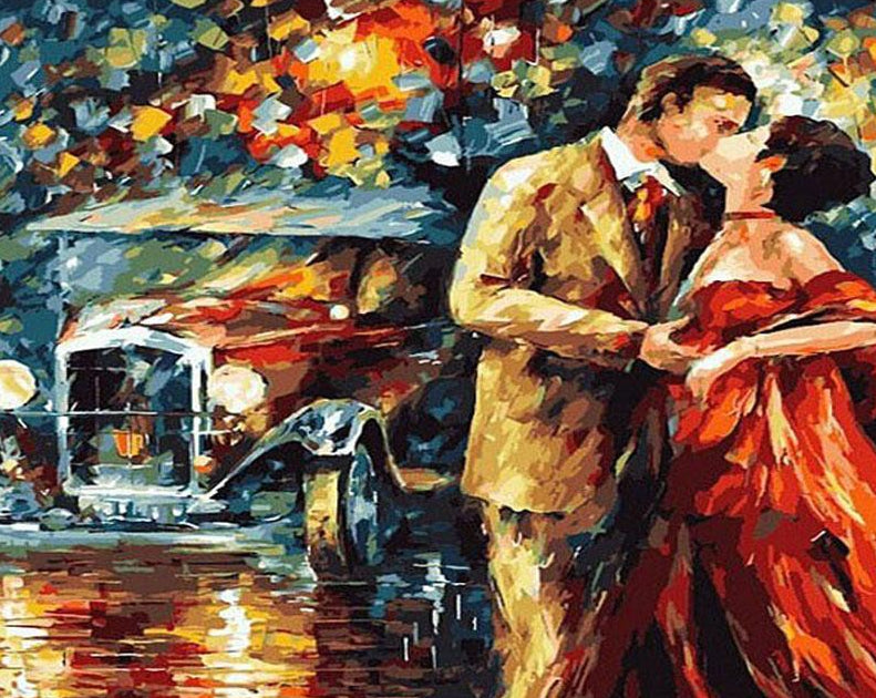 Couple Kiss Paint by Numbers