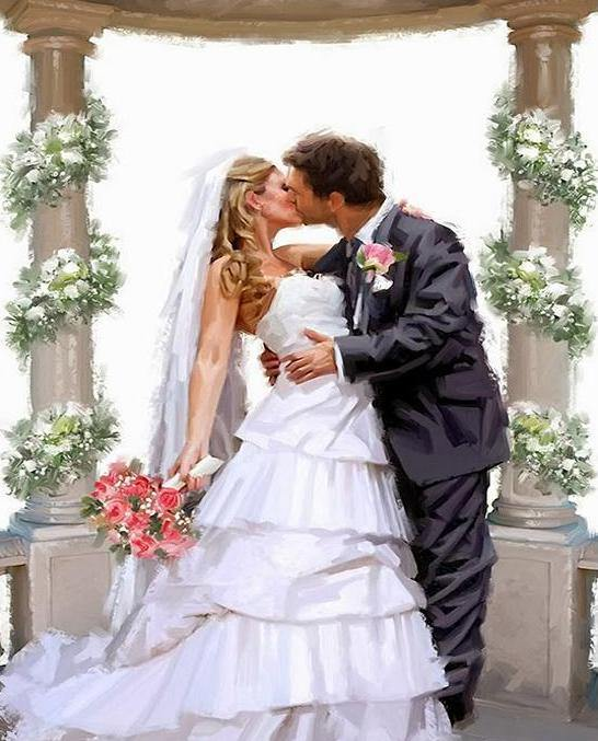 Wedding Kiss Paint by Numbers