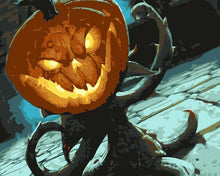 Load image into Gallery viewer, Halloween Pumpkin Paint by Numbers