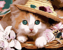 Load image into Gallery viewer, Cat in Hat Paint by Numbers