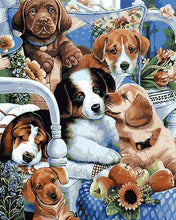 Load image into Gallery viewer, Cute Dogs Paint by Numbers