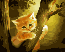 Load image into Gallery viewer, Cat on Tree Paint by Numbers
