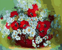 Load image into Gallery viewer, Daisies & Poppies Paint by Numbers