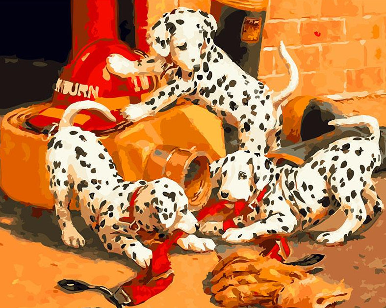 Dalmatian Puppies Paint by Numbers